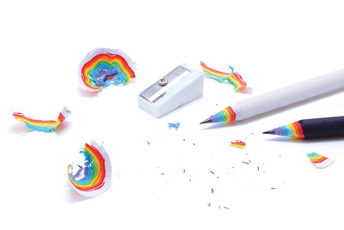 Arc-en-crayons