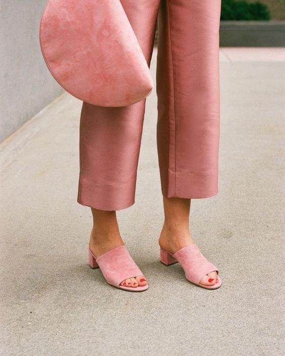 Sandale mule blush