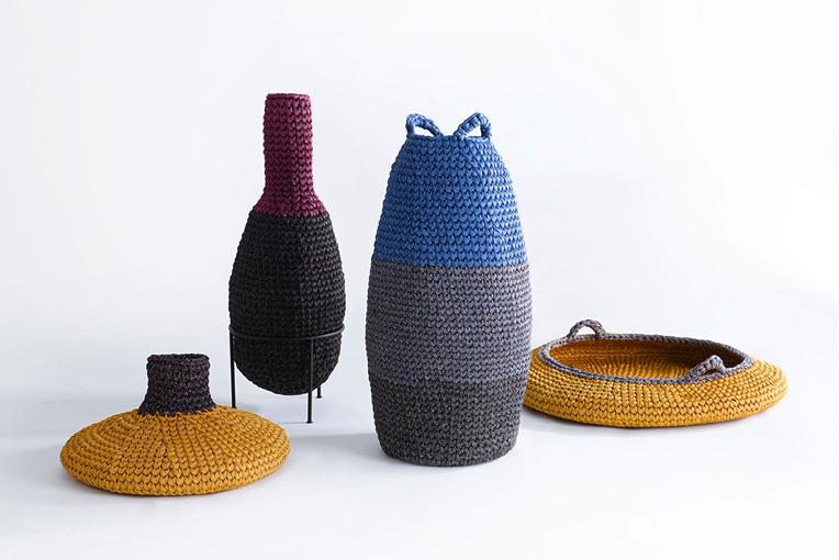 Panier tricoté