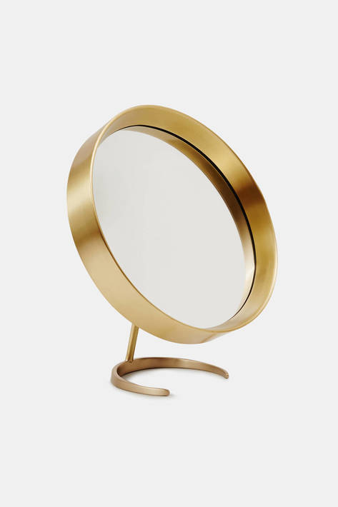 Brass Tabletop Mirror