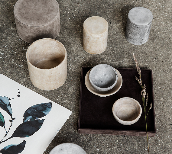 Vase nature marbre