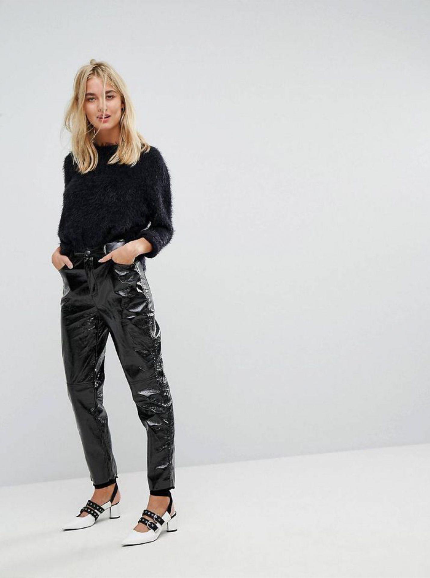 Pantalon Vinyle noir