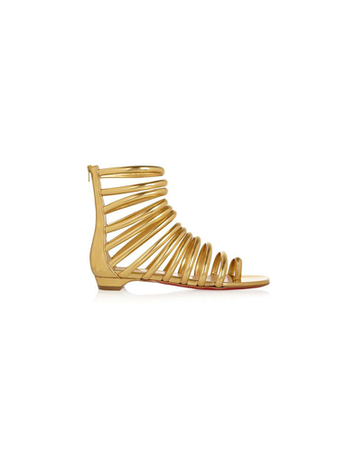 Sandales en cuir métallisé Catchetta