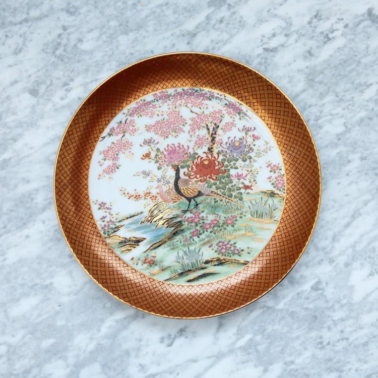 Plat de service ou décoratif Paon Oriental