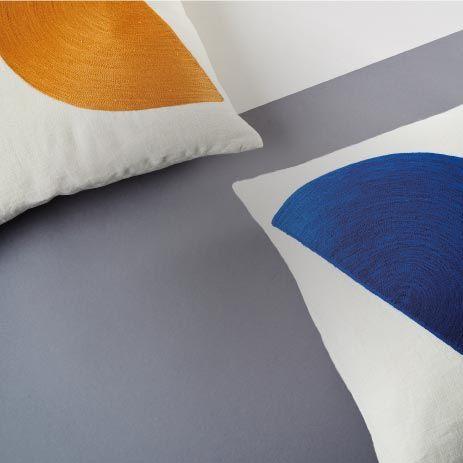 Housse de coussin Formes Modernistes cobalt