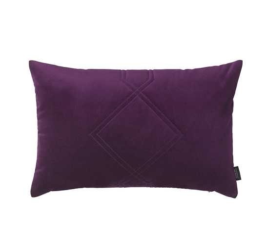 Coussin Velours Diamon violet