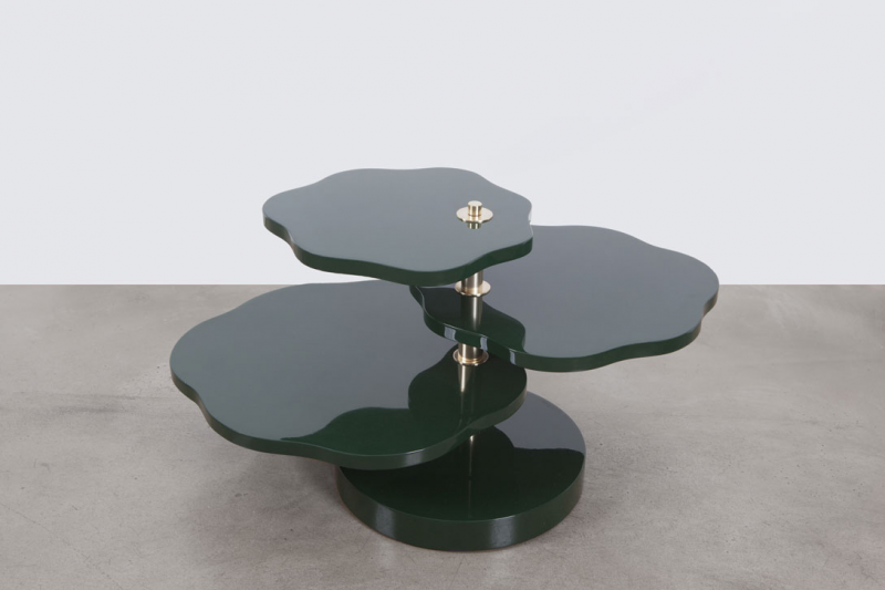 Table basse Lotus leaves