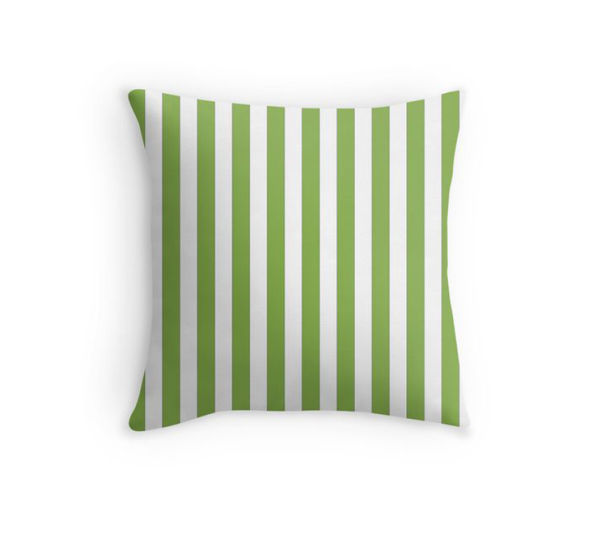 Coussin greenery stripes