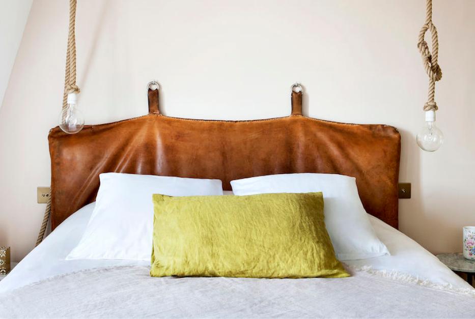 Tête de lit en cuir