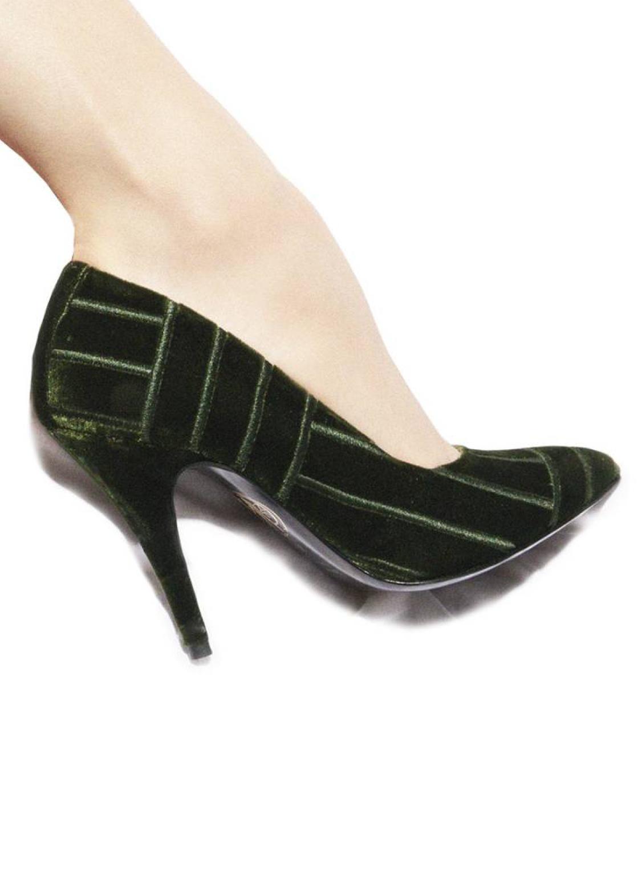 Escarpins Irene velours vert