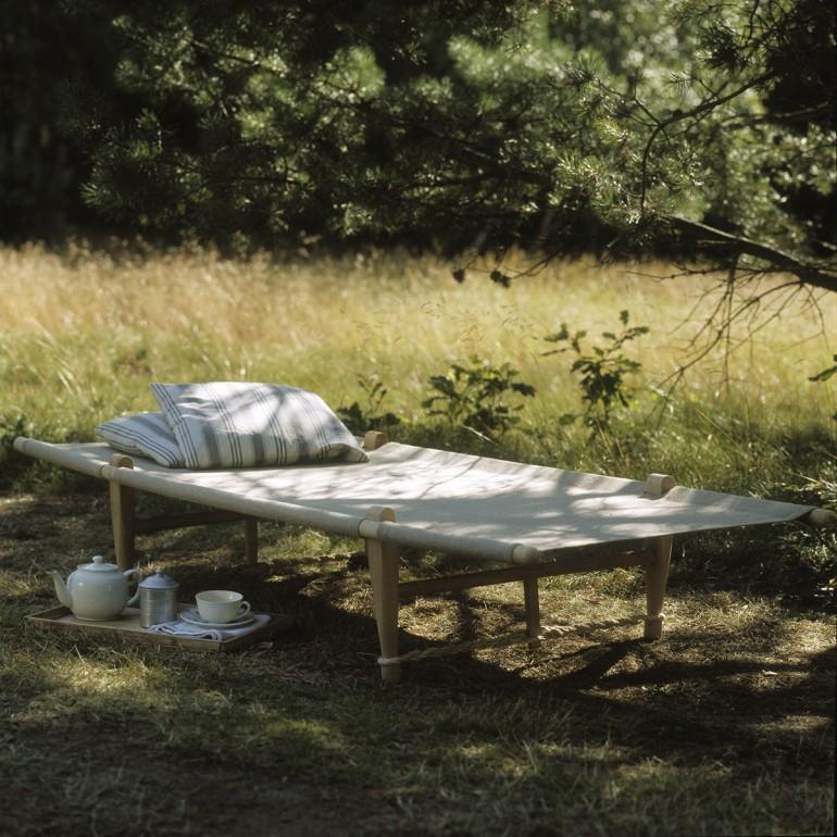 Lit de camp OGK Naturel