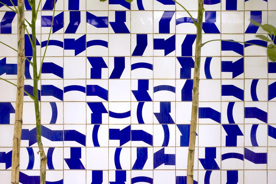 Mur de tuiles