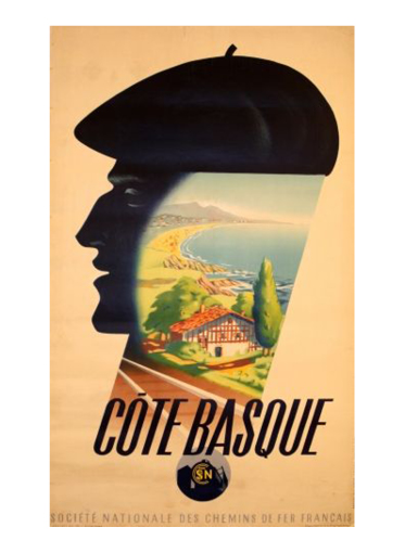Affiche Côte Basque