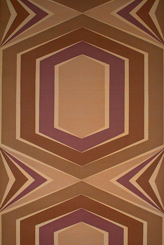 Papier peint Vintage Purple Retro