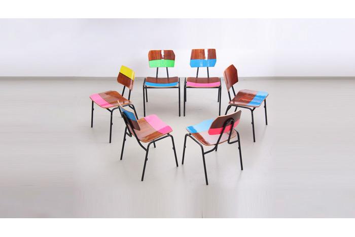 Lot de chaises 1964