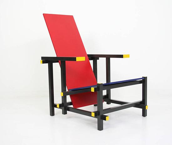 Chaise Rouge et bleue