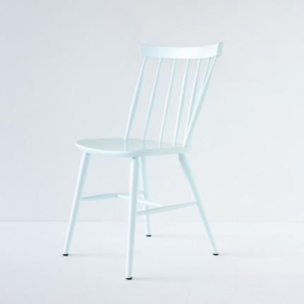 Chaise Scandinave bleu-vert