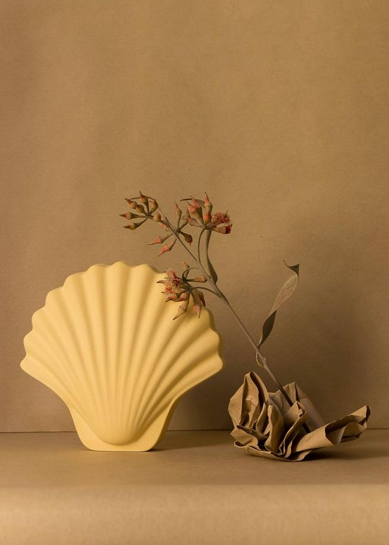 Seashell vase