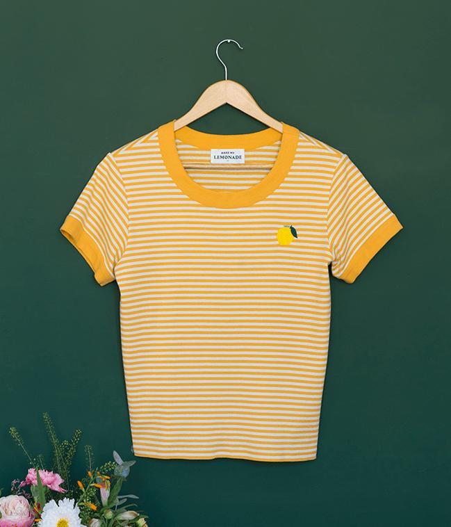 T-shirt Clémentine moutarde