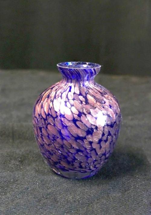 Vase rétro en verre soufflé
