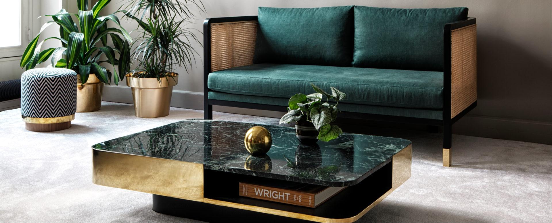 Table Basse Lounge Marbre Vert