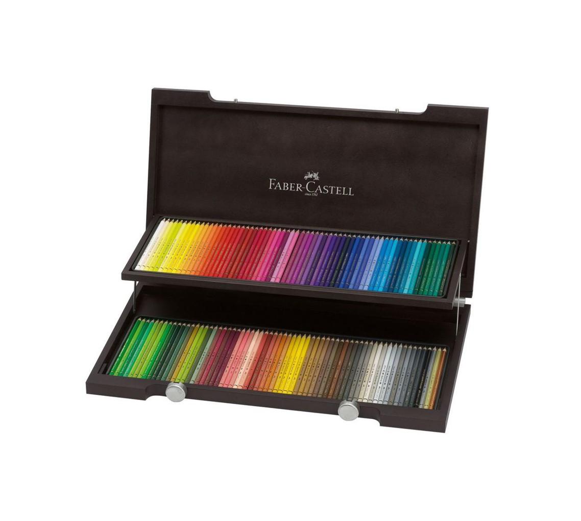 Coffret bois 120 crayons de couleur Polychromos