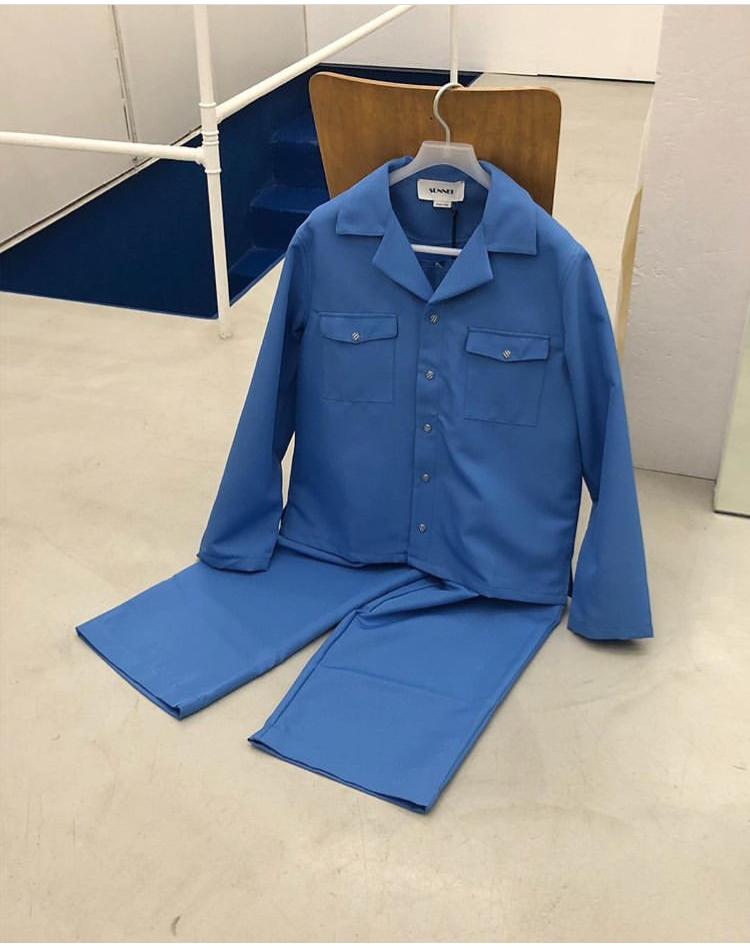 Azure Hawaiian shirt