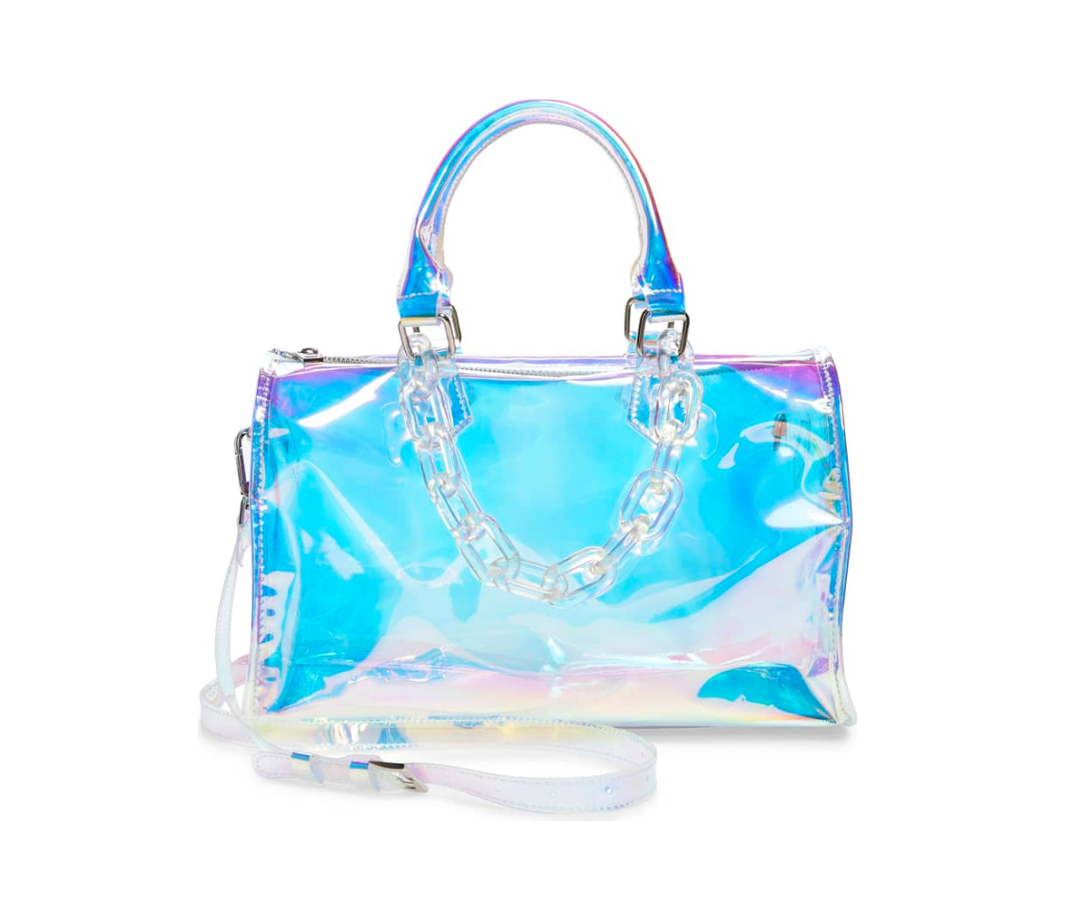 Sac iridescent transparent