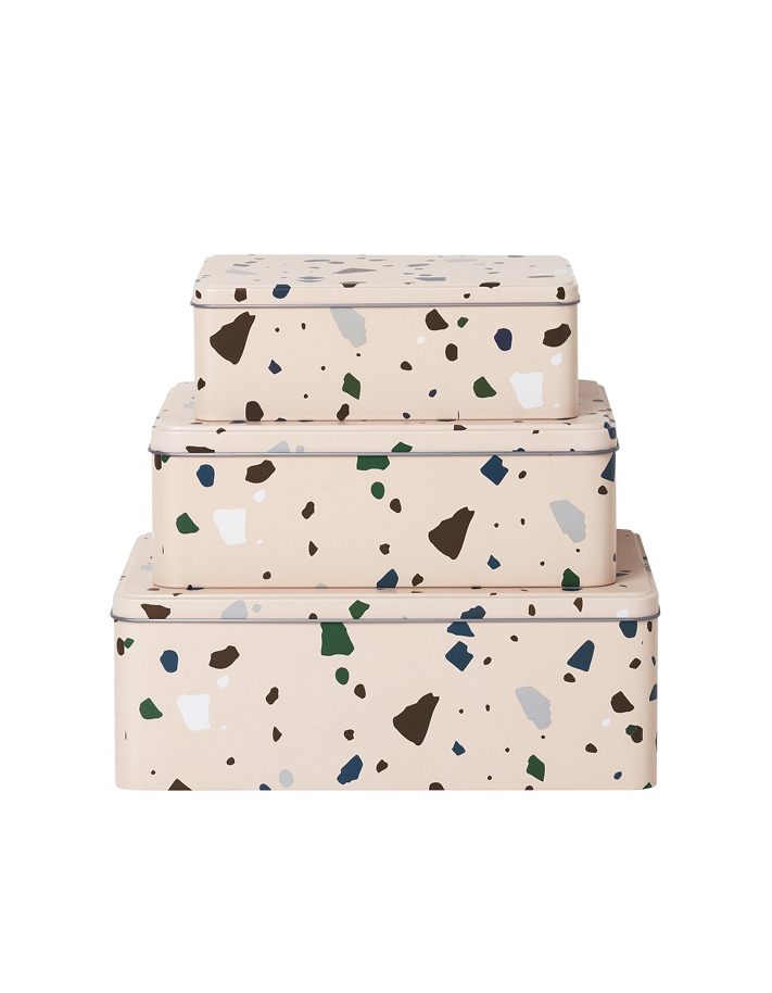 Boîtes avec imprimés Terrazzo
