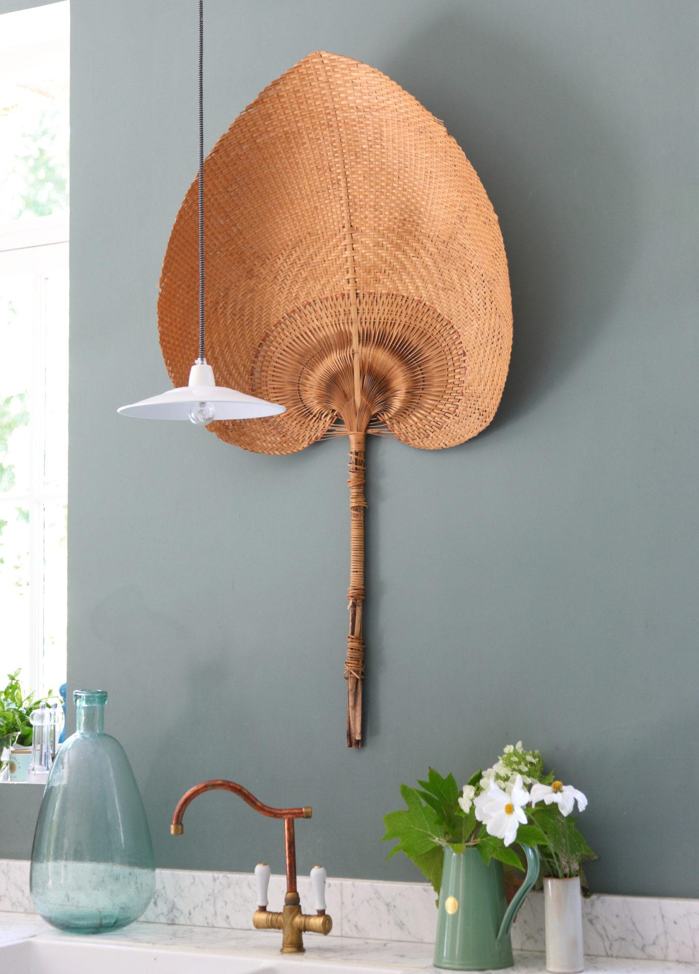 Palme décorative en osier
