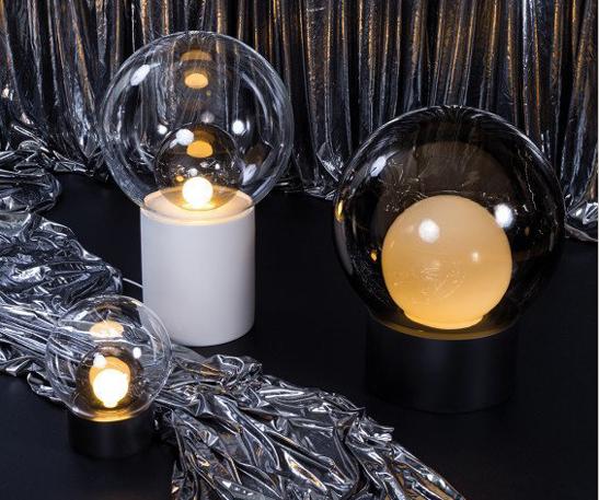 Lampe de table boule