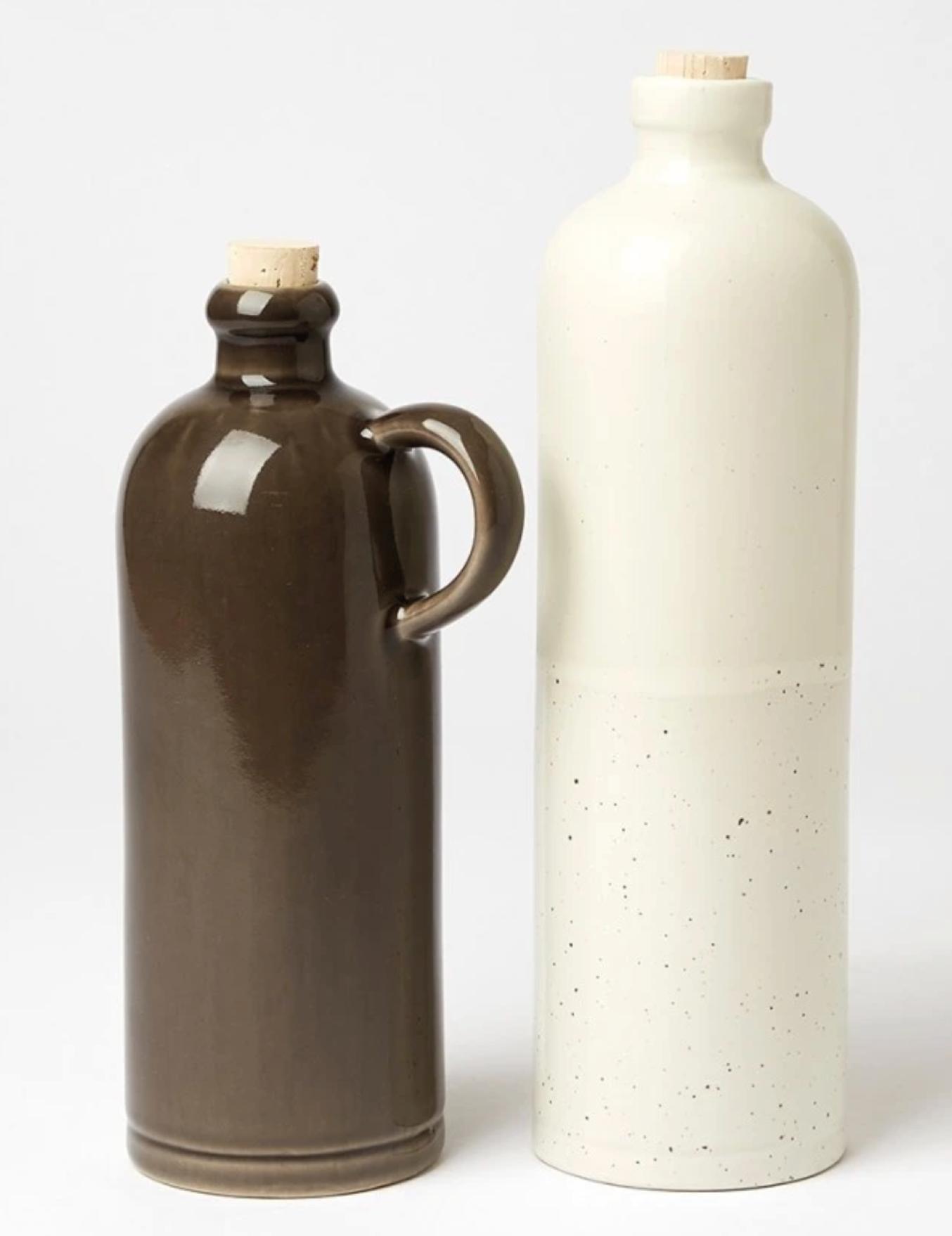 Bouteille d'huile en céramique