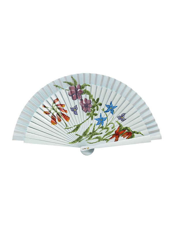 Éventail Blue Flower Fan