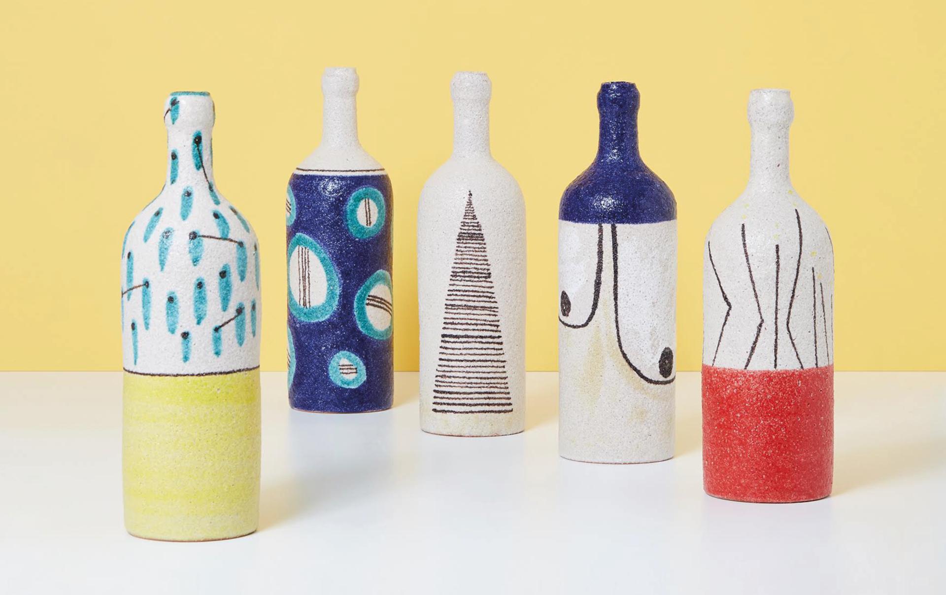 Bouteille d'Art en céramique