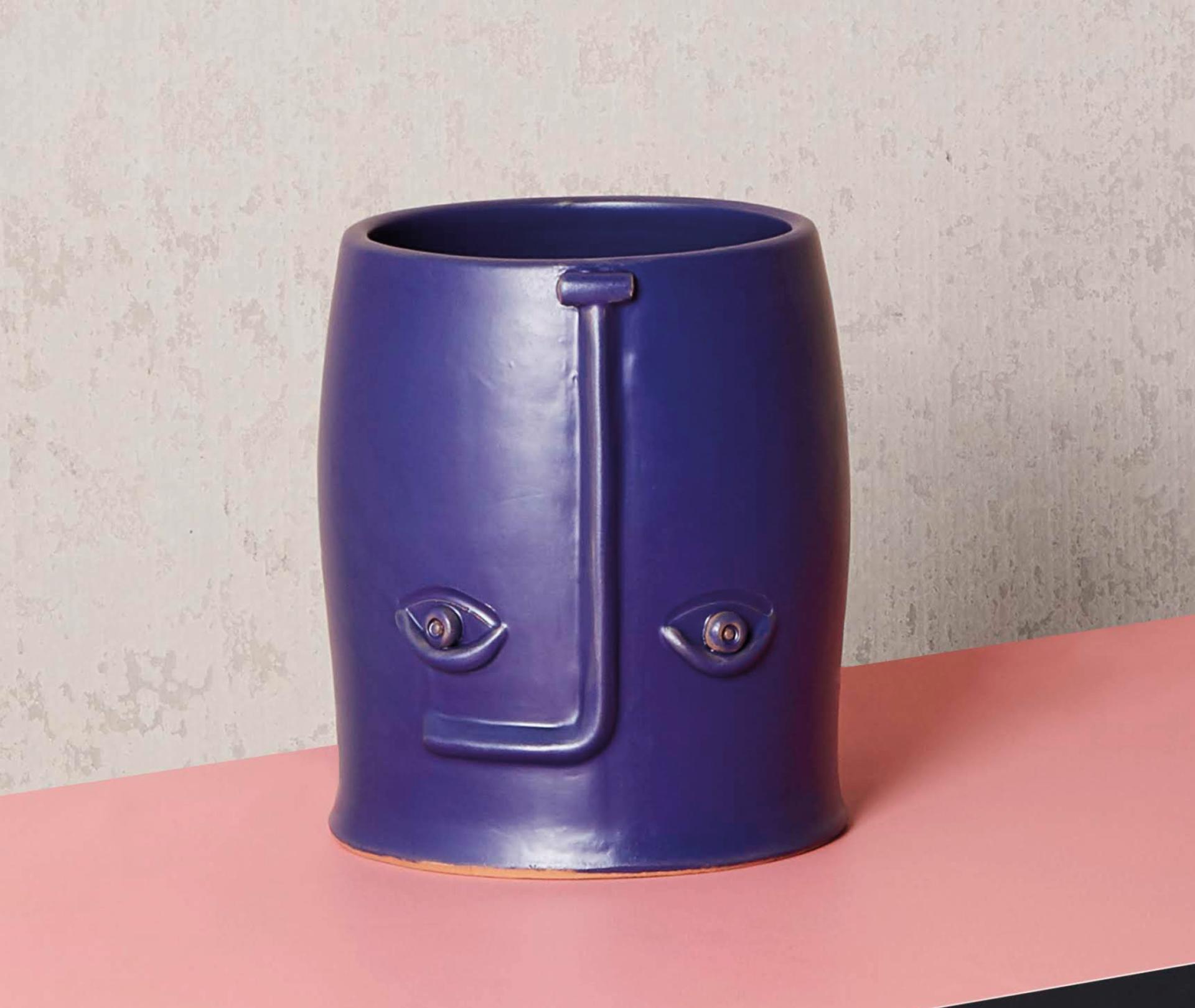 Vase en céramique Face