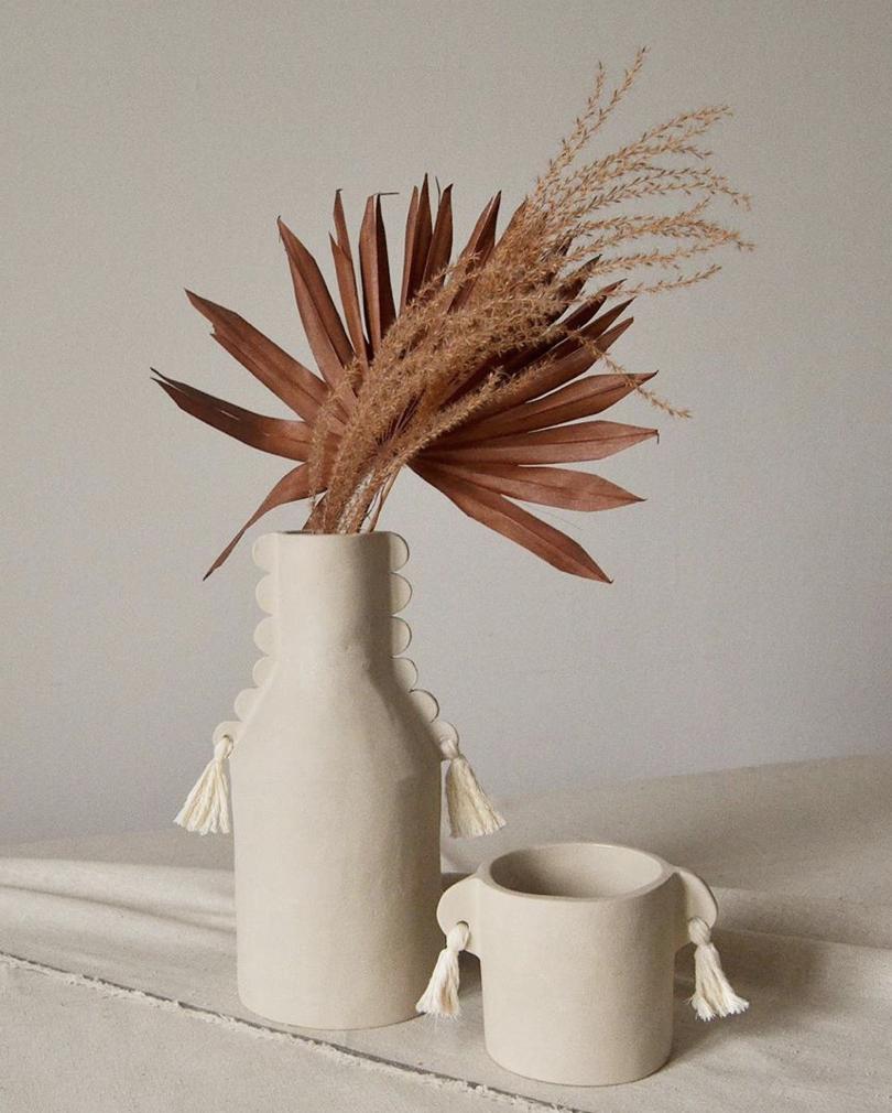 Vases à pompons
