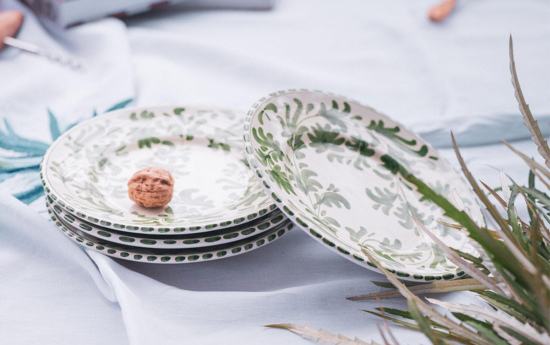 4 assiettes Pampa - Dimanche Vaisselle