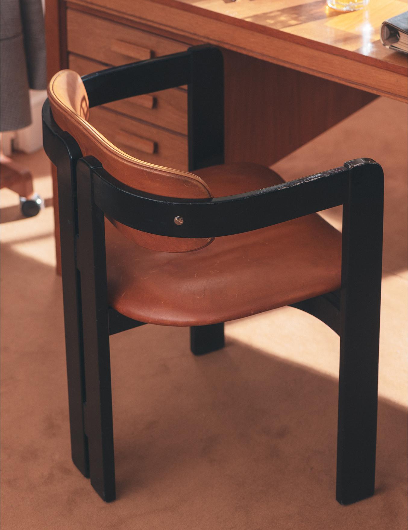 Chaise Pigreco par Tobia Scarpa
