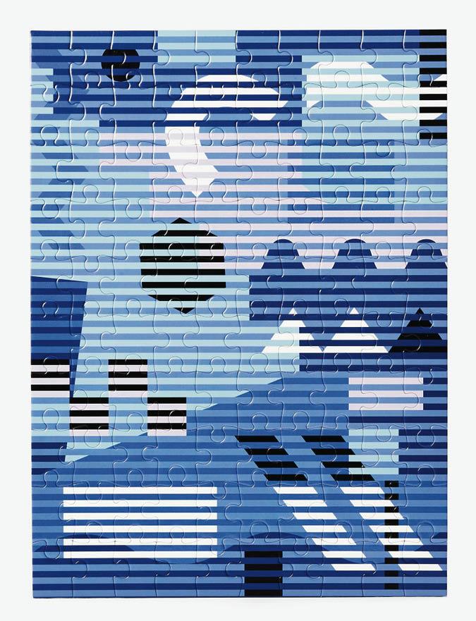 Mini puzzle Lenticular Blue