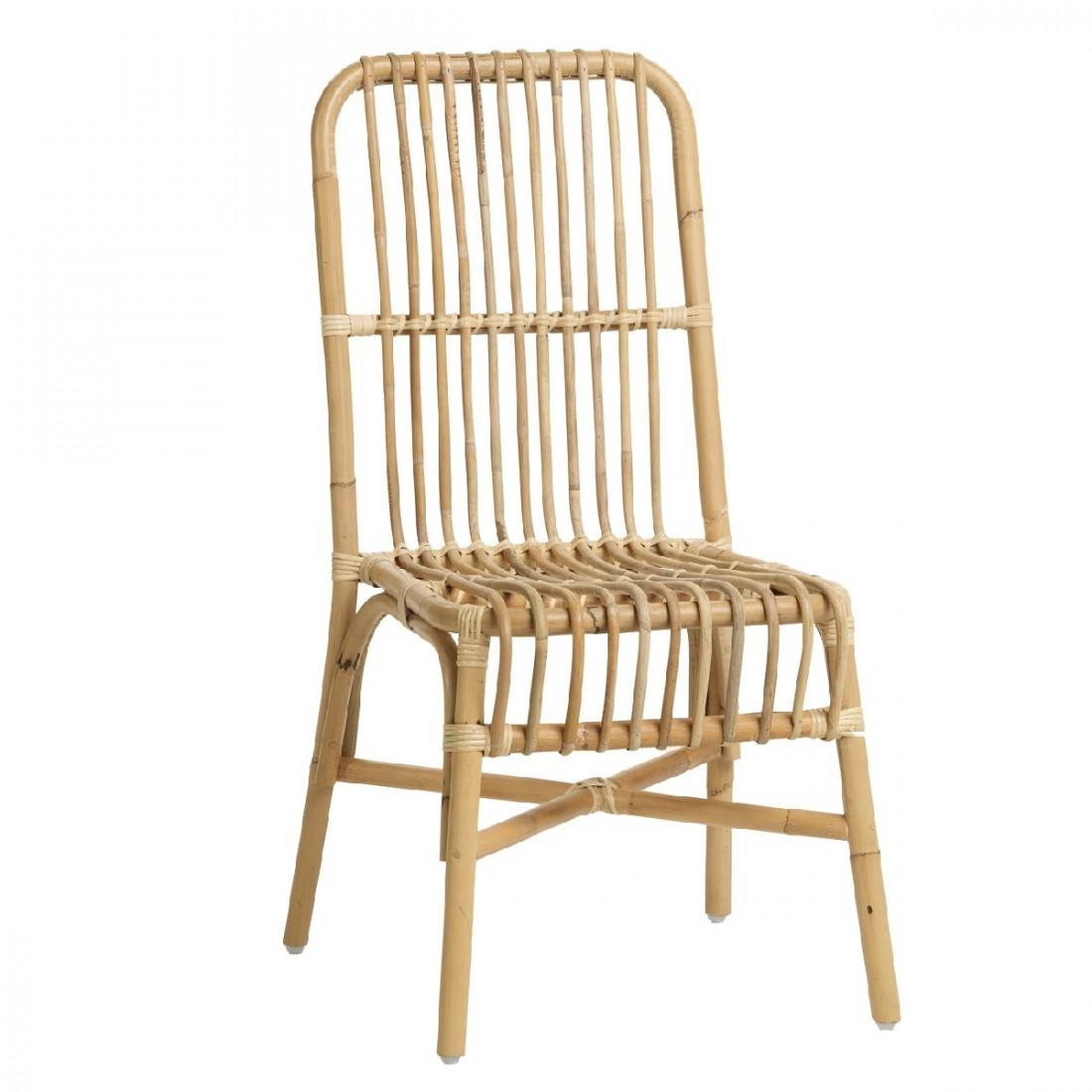 Chaise en rotin naturel Valérie