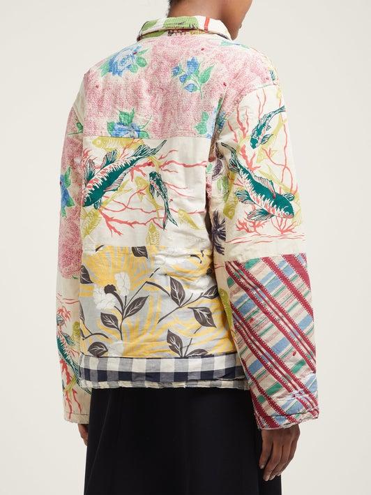 Veste en coton patchwork