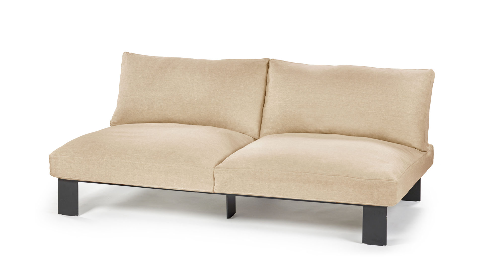 Canapé droit en lin