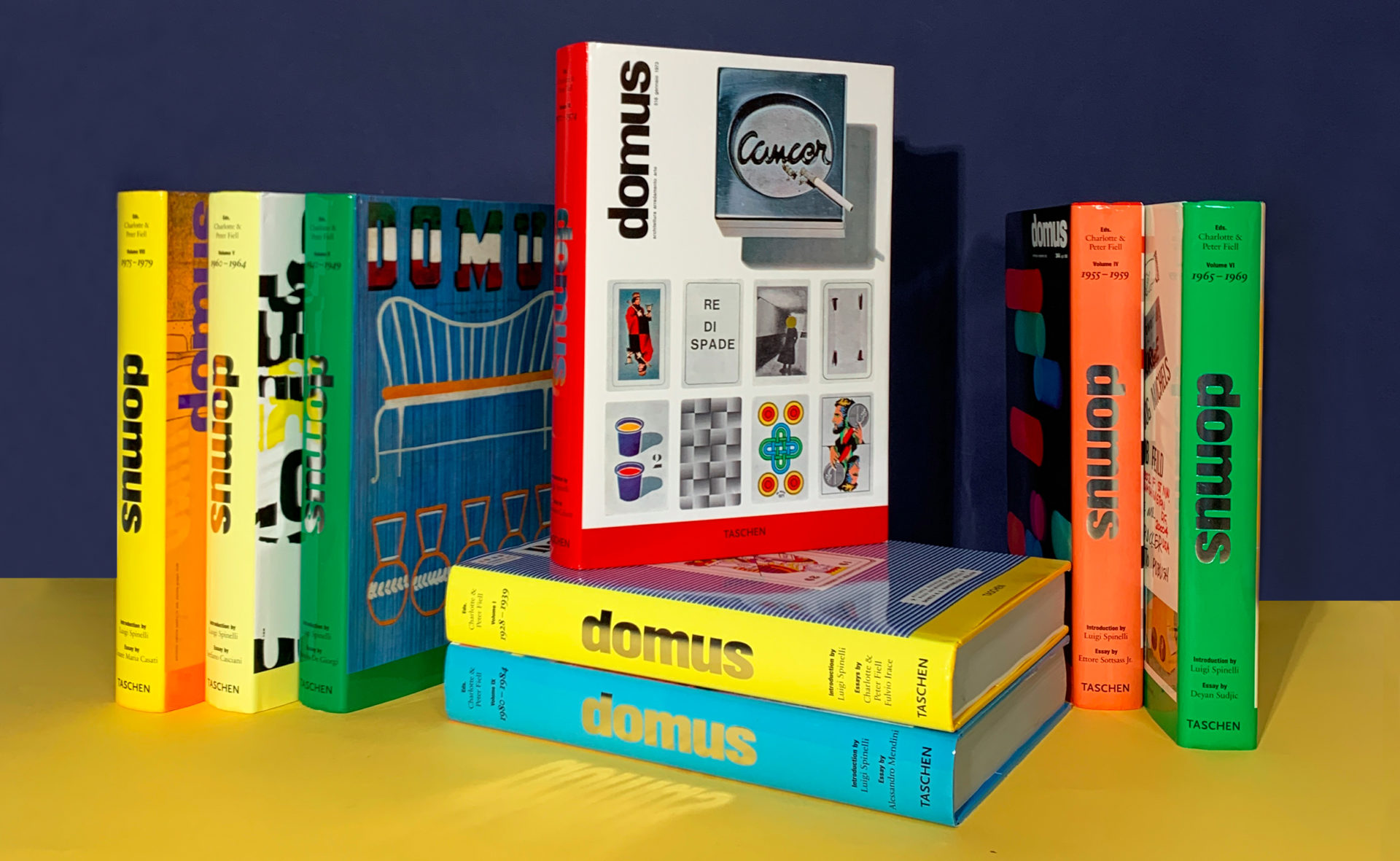Lot de 8 livres DOMUS des éditions Taschen