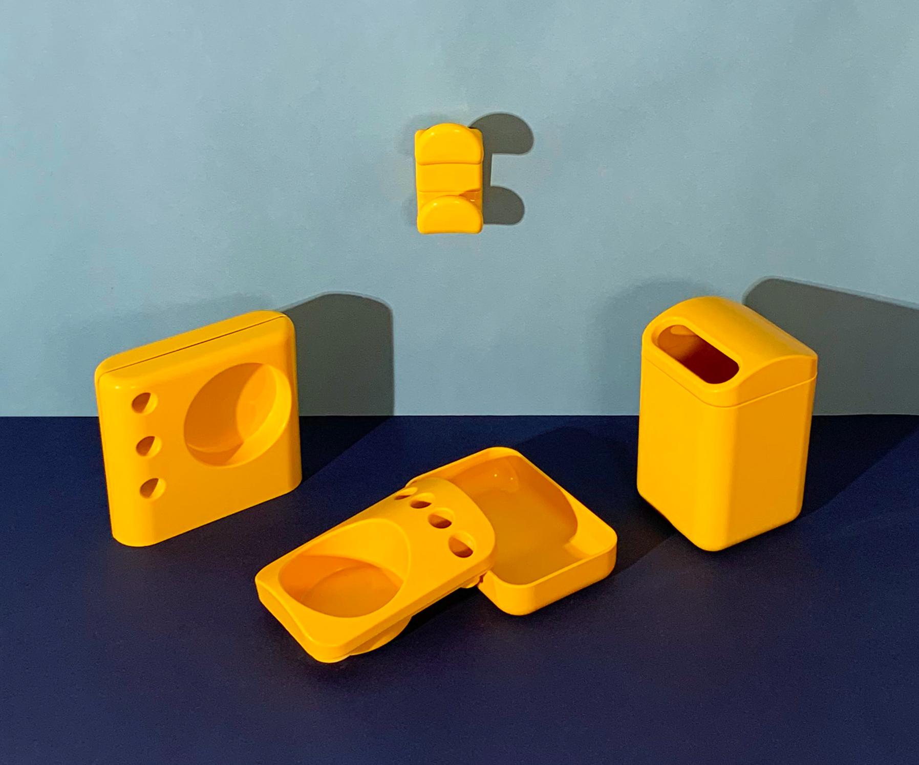 Ensemble de 4 accessoires - jaune