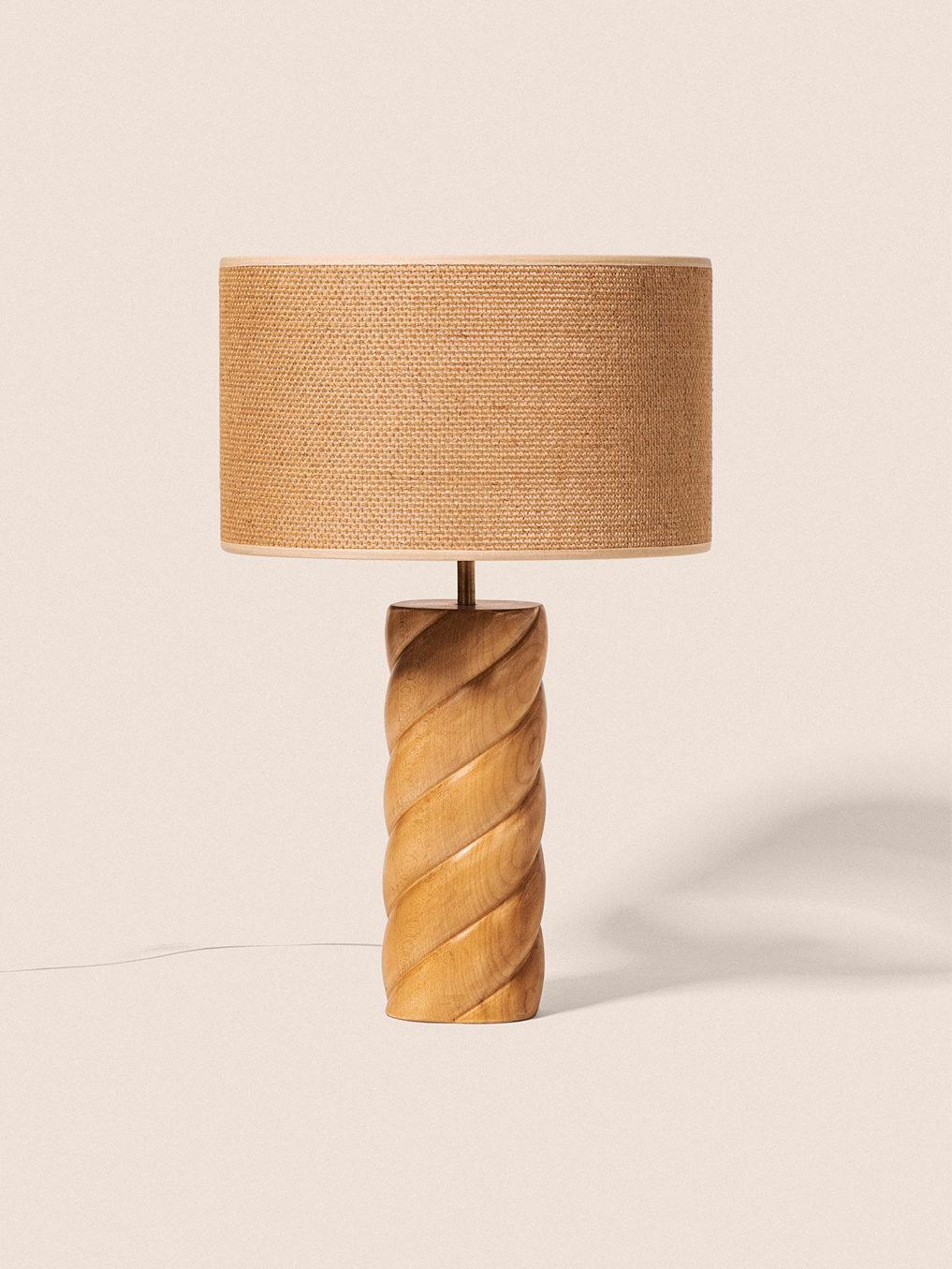 Lampe - Érable & Jute