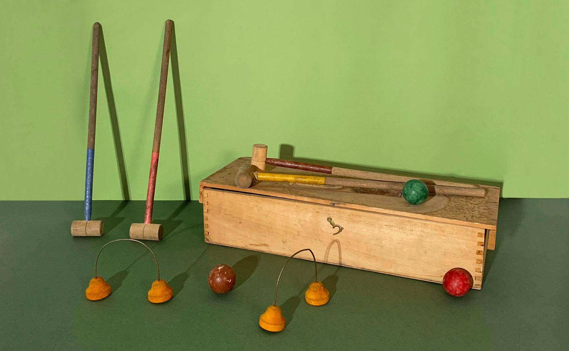Mini jeux de croquet en bois