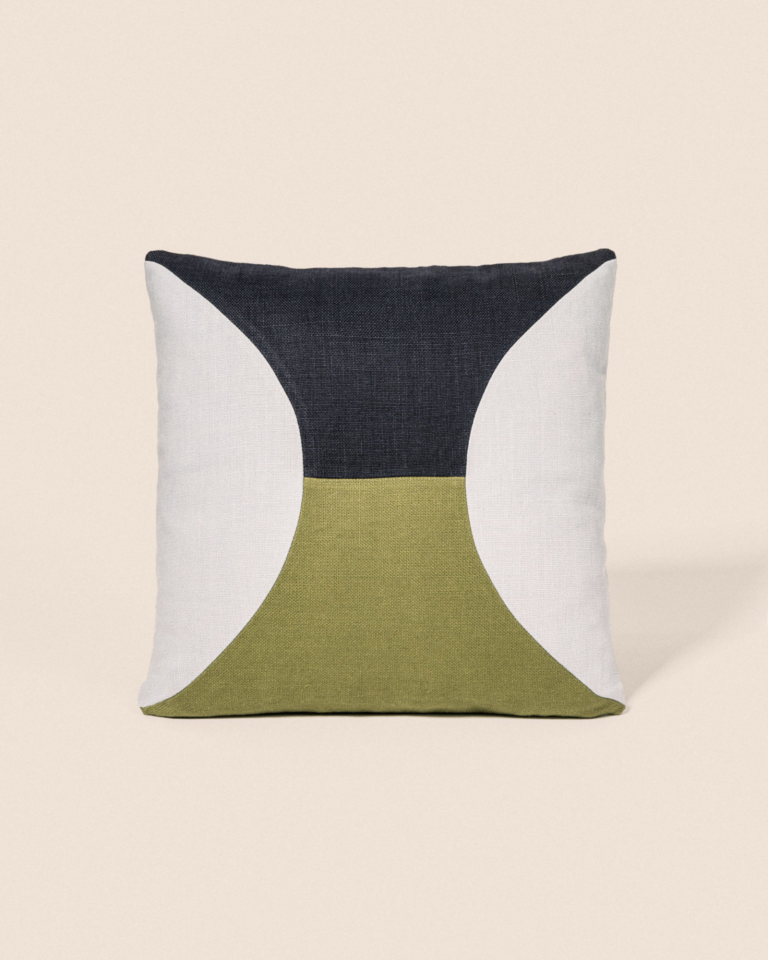 Coussin Circle - Bleu glace & Olive