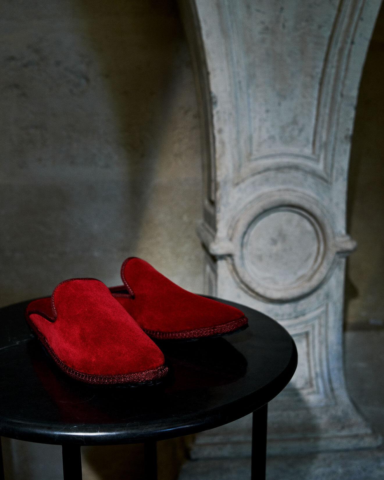 Pantoufles Bovary en velours