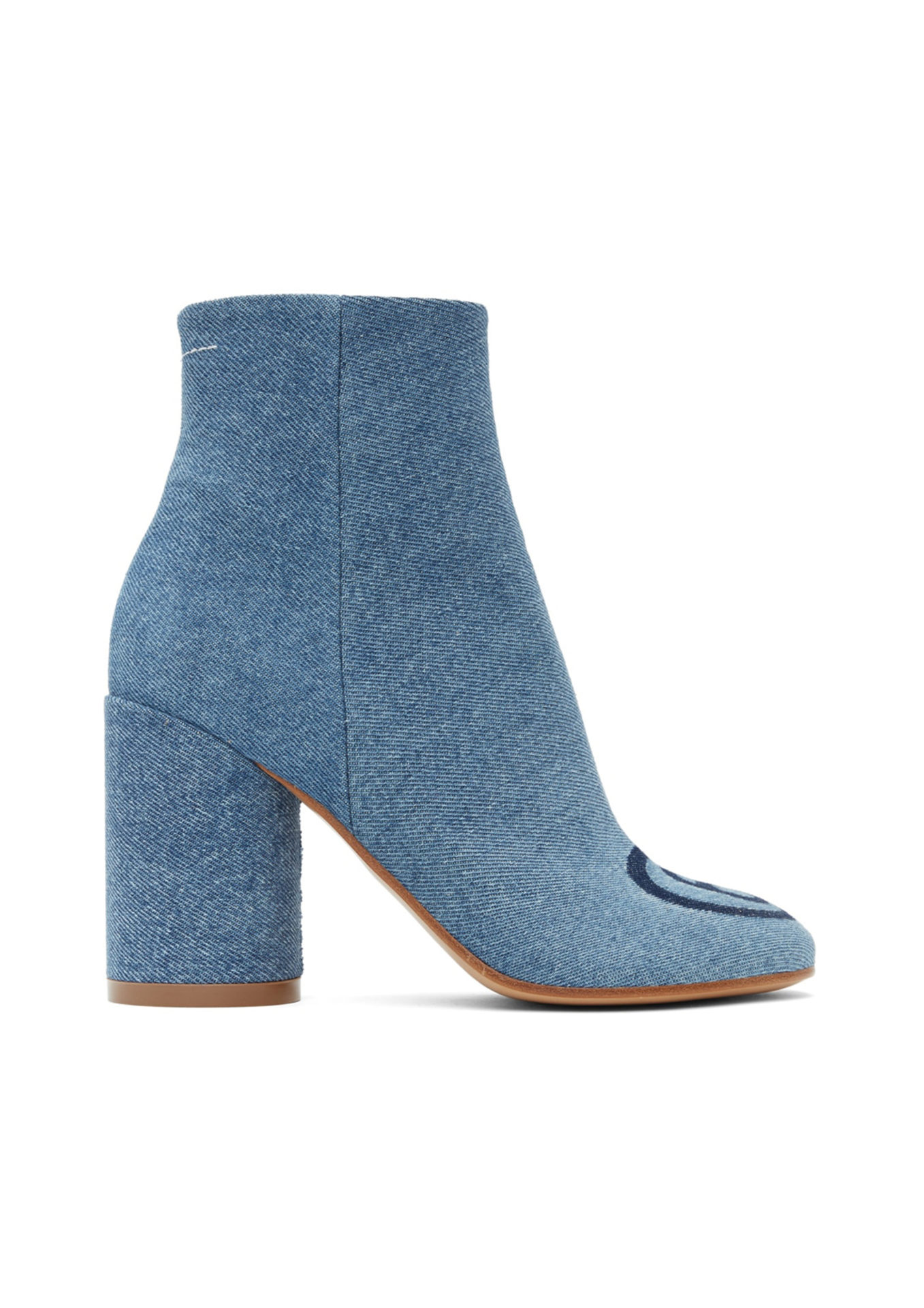 Bottines en denim bleues